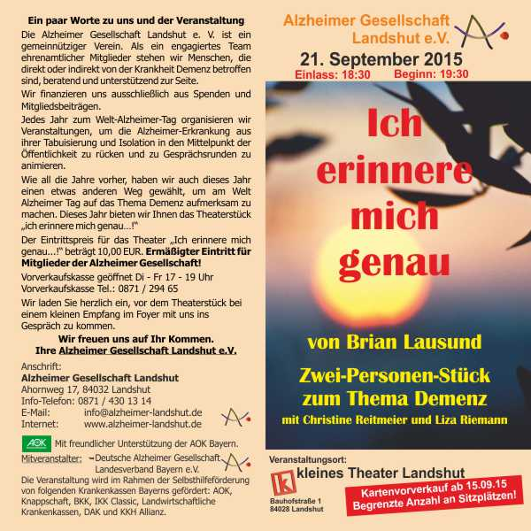 2015 Weltalzheimertag Theater Flyer 150719 S41 600x600